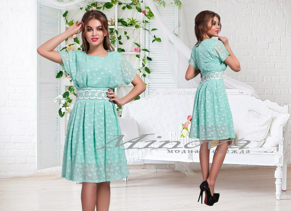 Платье Каролина-ментол (sale)