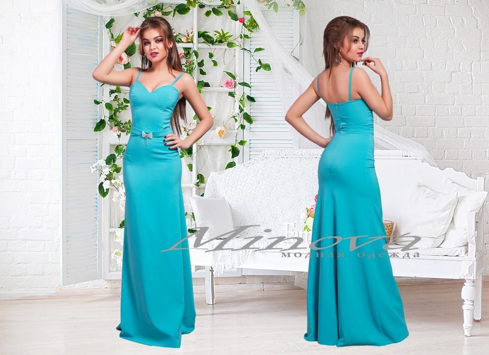 Платье №3067-голубой (sale)