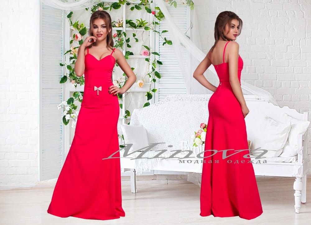 Платье №3067-красный (sale)