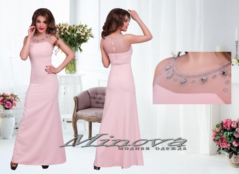 Платье №3070-пудра (sale)