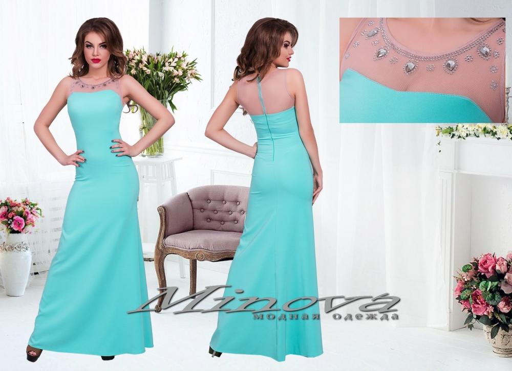 Платье №3070-ментол (sale)