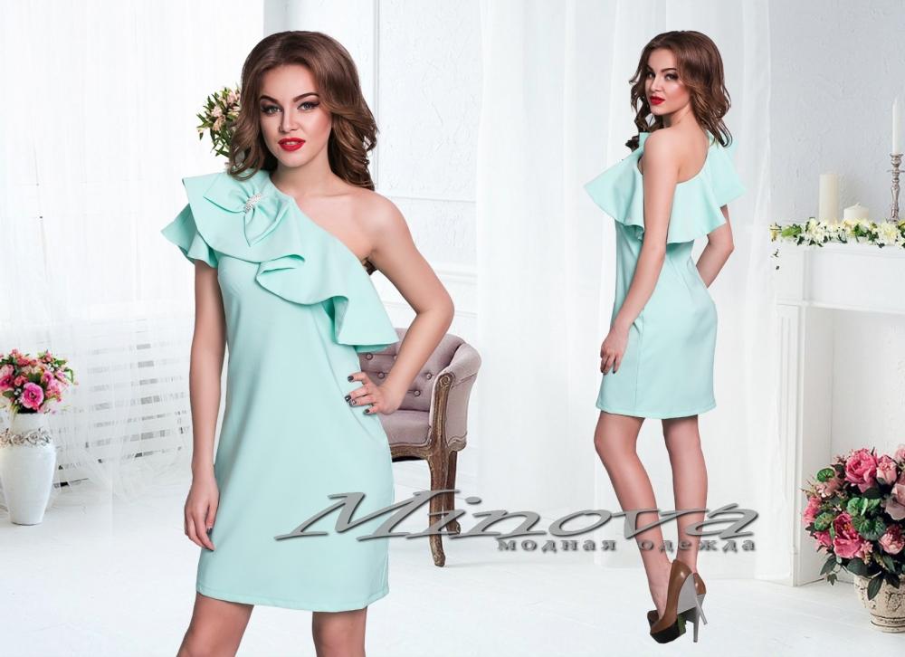 Платье №3071-ментол (sale)