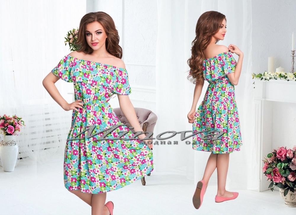 Платье №277-зеленый (sale)