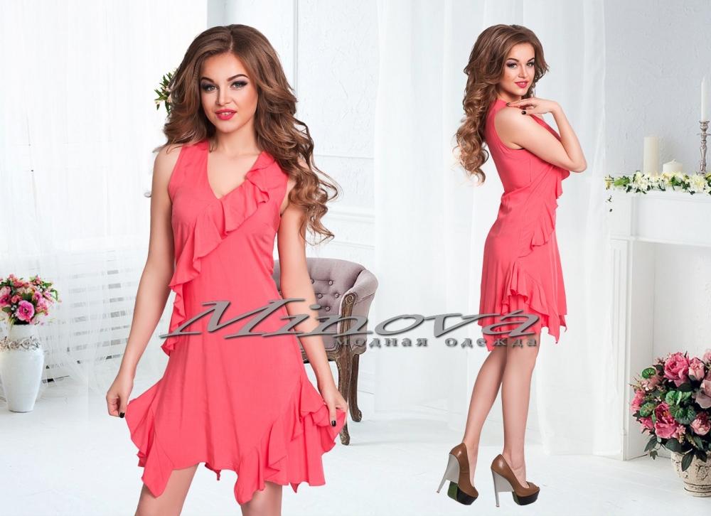 Платье №144-красный (sale)