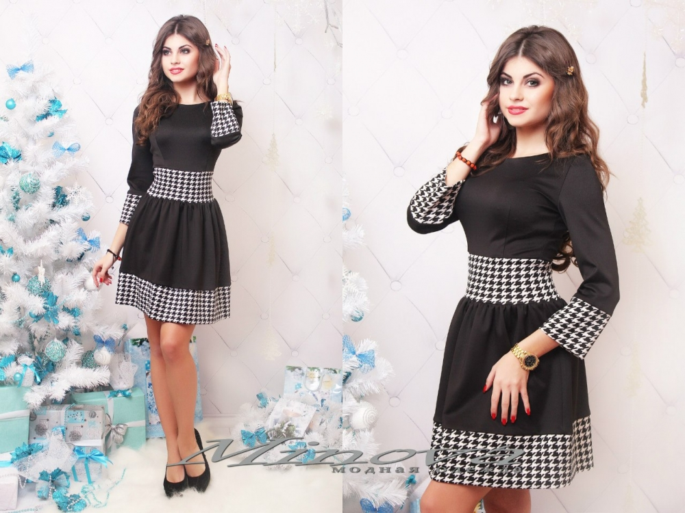 Платье №3036-черный (sale)