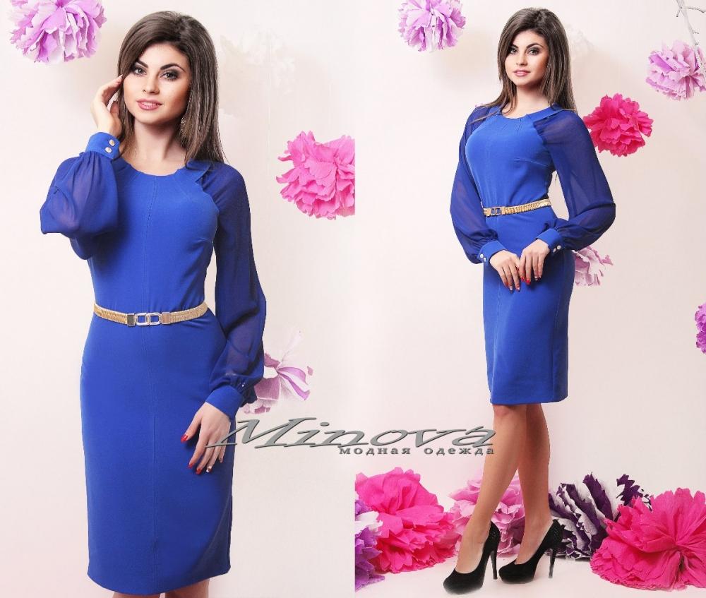 Платье № 103-электрик (sale)