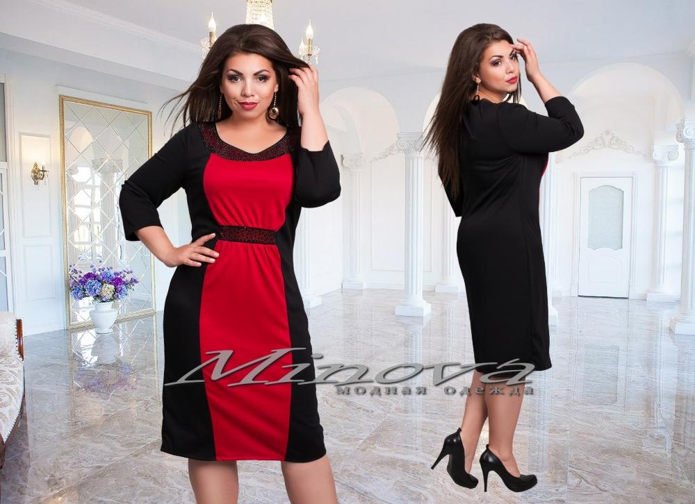 Платье №385-1-красный (sale)