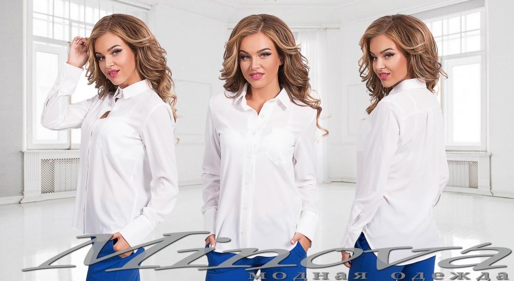 Рубашка №2002-белый (sale)
