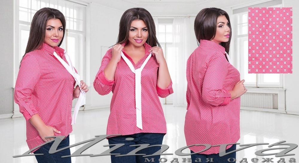 Рубашка №1065-коралл (sale)